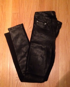 helmut lang skinnies leather