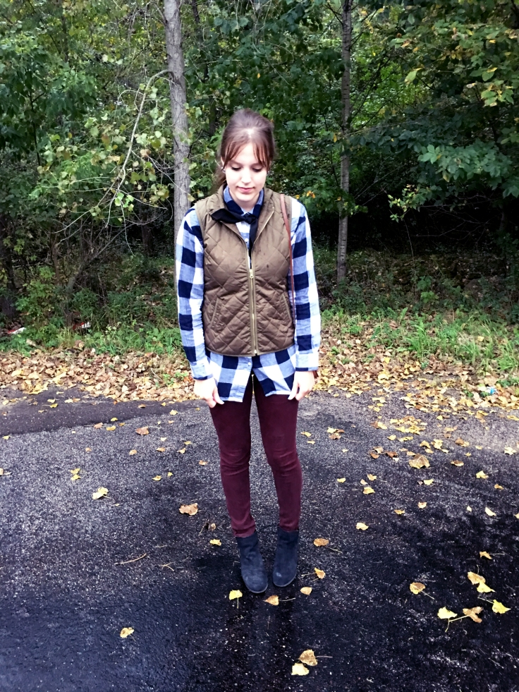 fall-trends-classic-style-with-plaid-shirt-and-vest-old-navy-ag-jeans-and-wedges