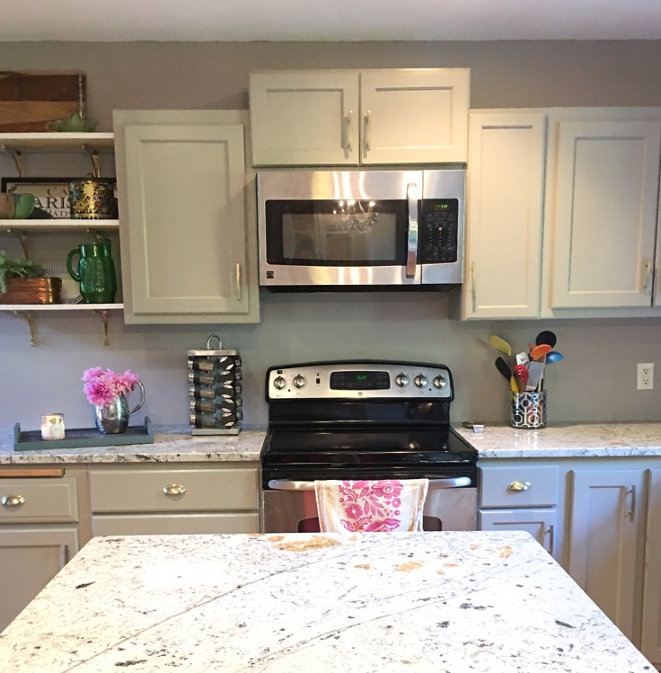 kitchen-before-and-after-oak-cabinet-makeover-paint-ugly-cabinets-grey-kitchen-remodel-diy