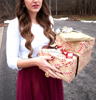 holding gifts