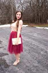 i really love this skirt with the nude accents