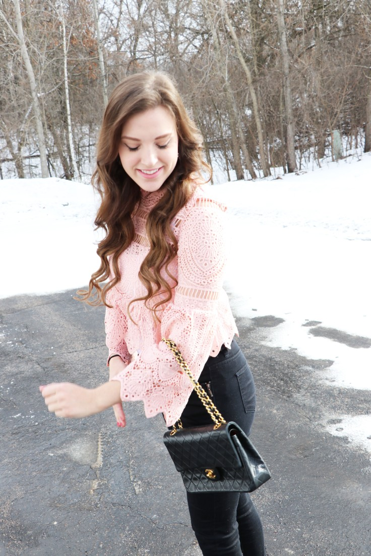 lace-pink-shirt-with-chanel-bag