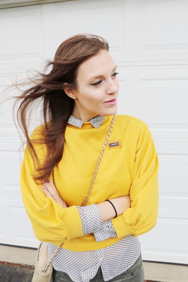 yellow orange romwe shirt 8new