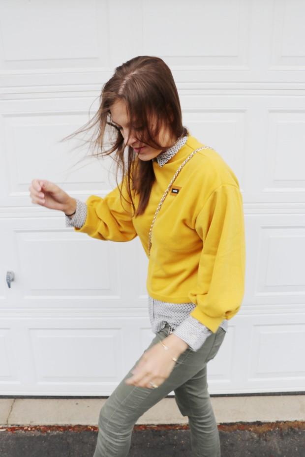 yellow orange romwe shirt10new
