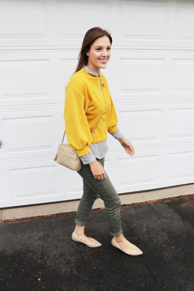 yellow orange romwe shirt12new