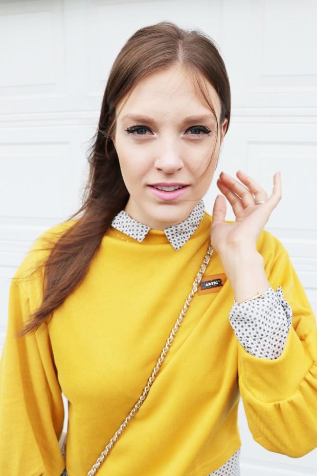 yellow orange romwe shirt7new
