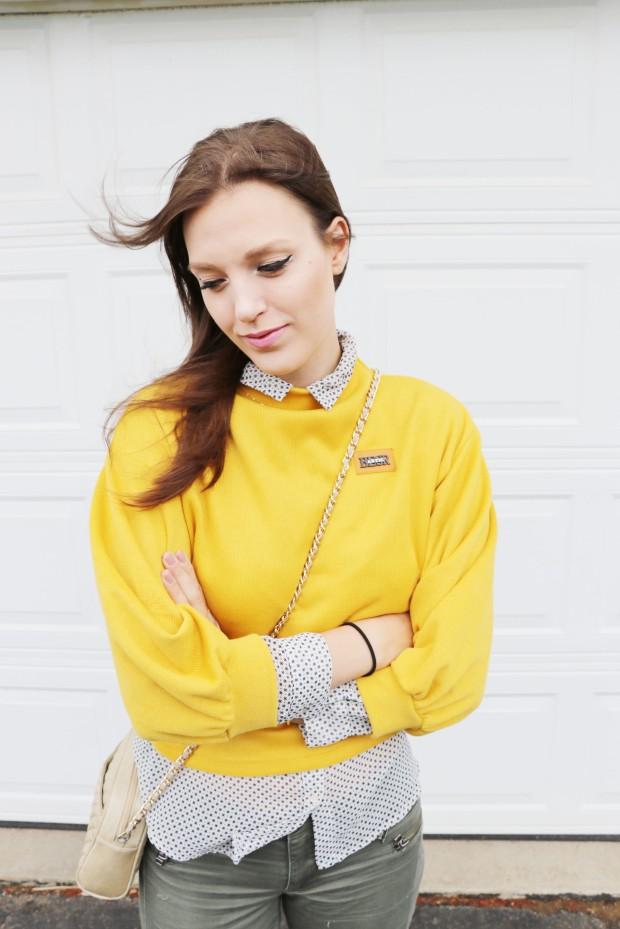 yellow orange romwe shirt9new