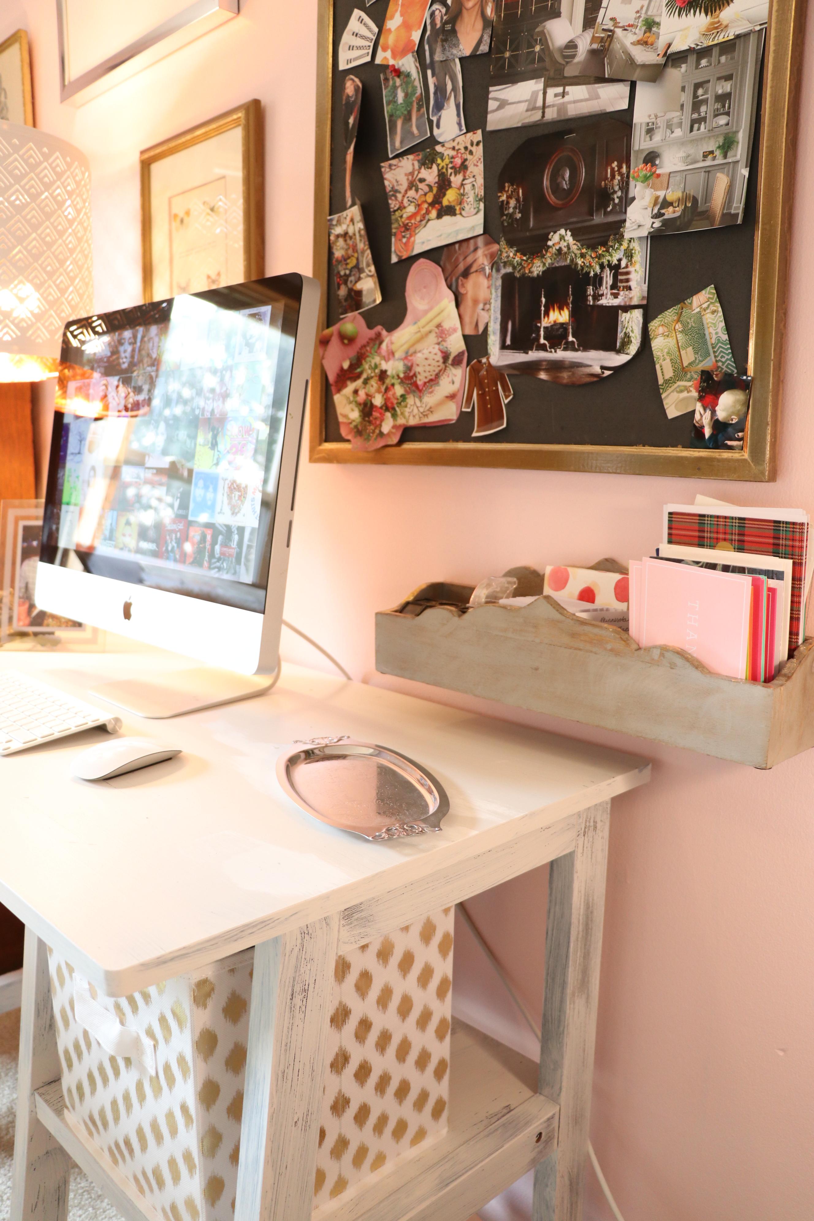 artist office. Card Organization In Artist Blogger\u0027s Blush Pink Office