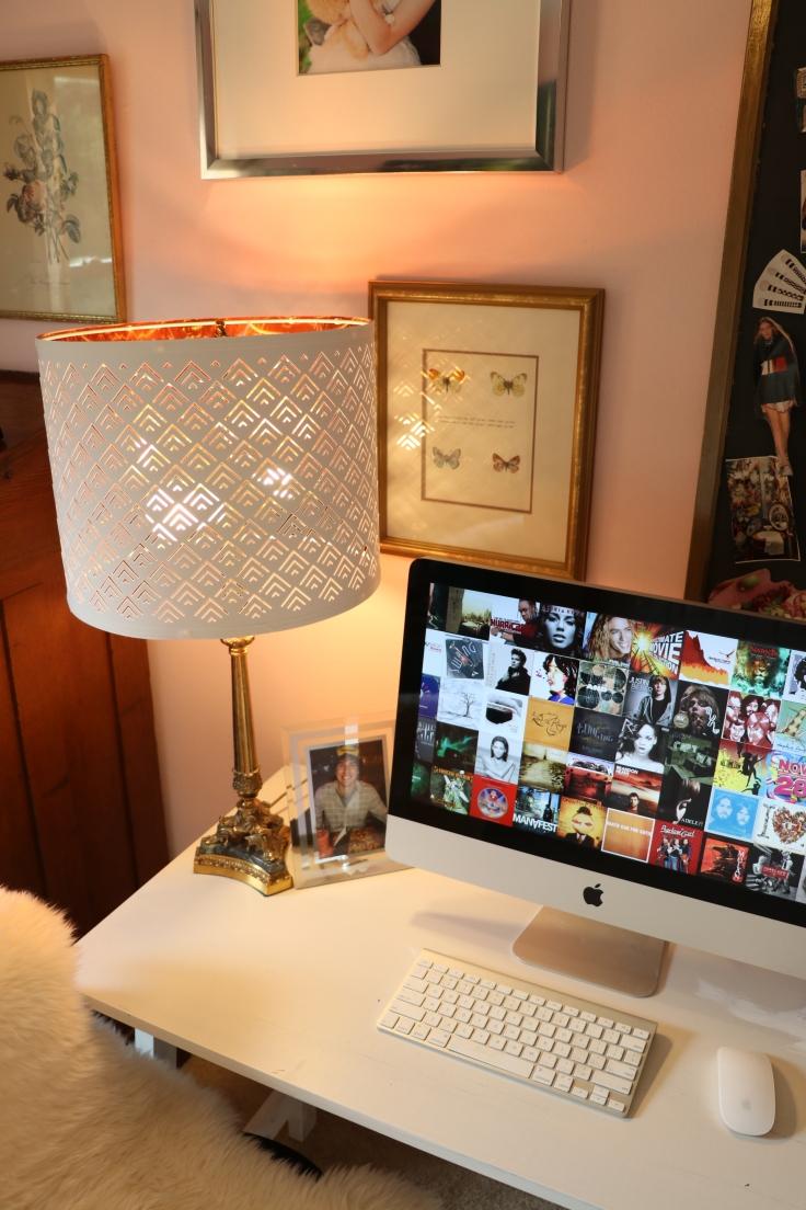 desk space of bloggers diy home office makeover art studio
