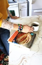 coffee and bracelet with cookbook by zoe francios new artisan bread in five minutes a day copy