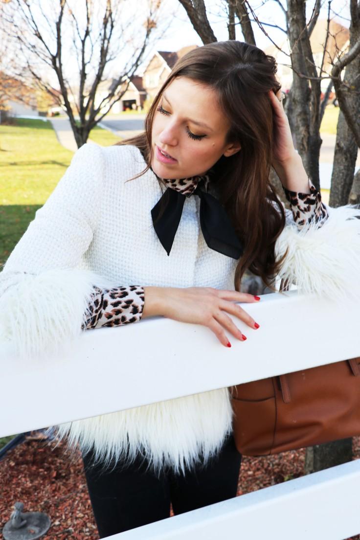 faux fur trimmed jacket copy