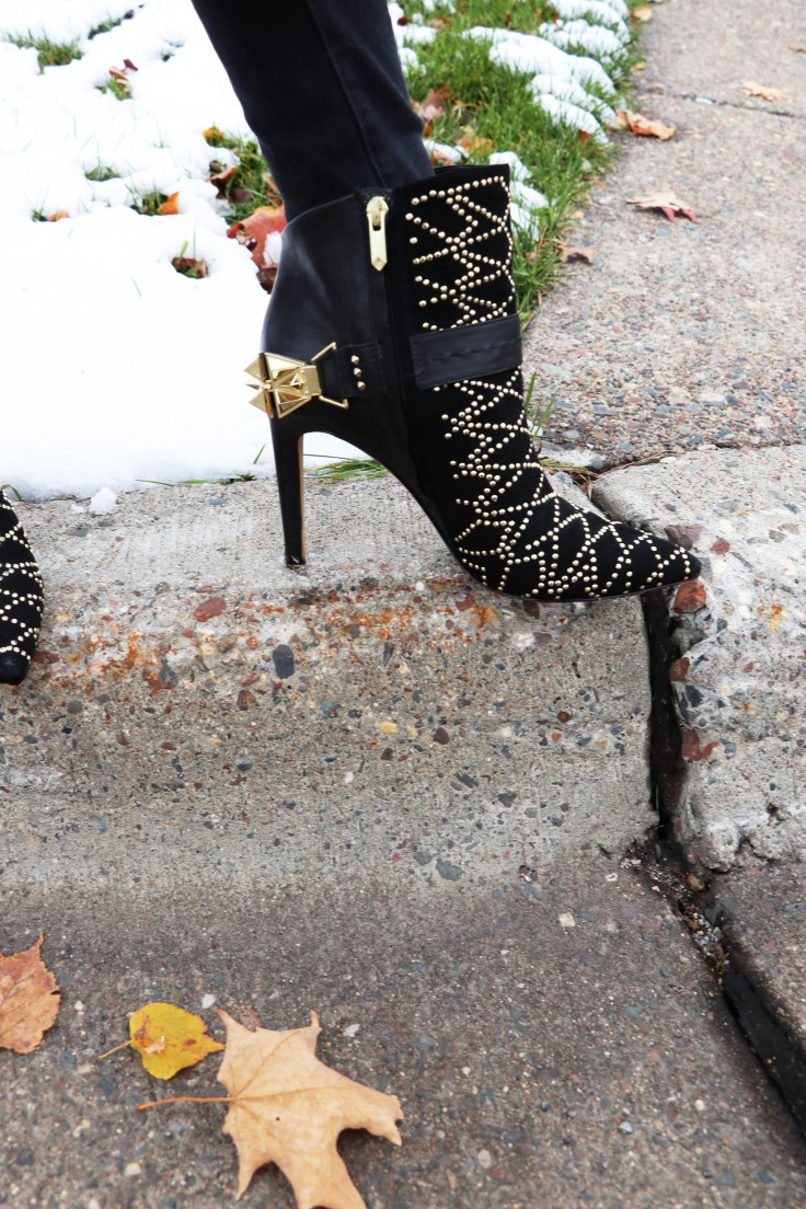 studded booties with spurs copy