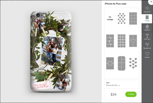 you can chose a premade layout to put pictures into