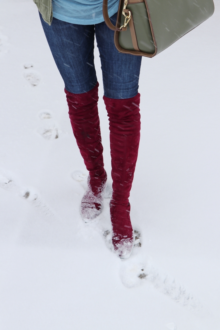 red merlot otk over the knee boots