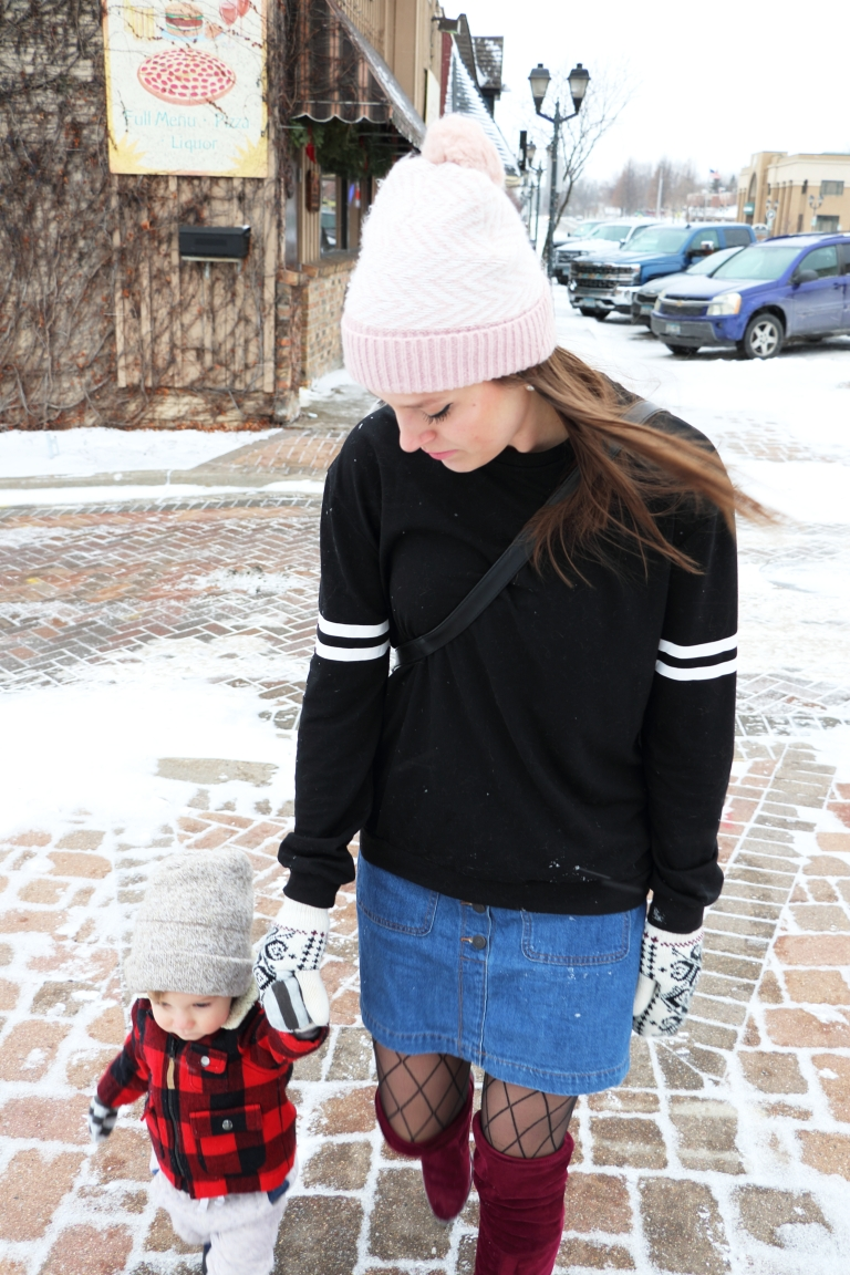 winter date downtown with my family blogger minneapolis