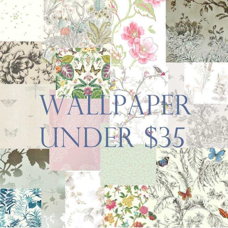 Wallpaper under $35