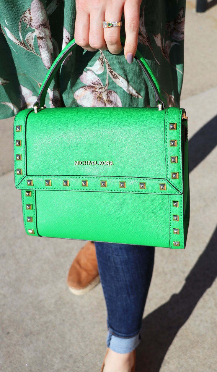 green michael kors bag saturation 1
