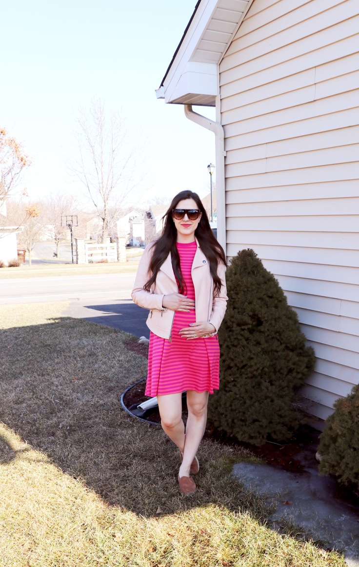 pink dress with pink coat