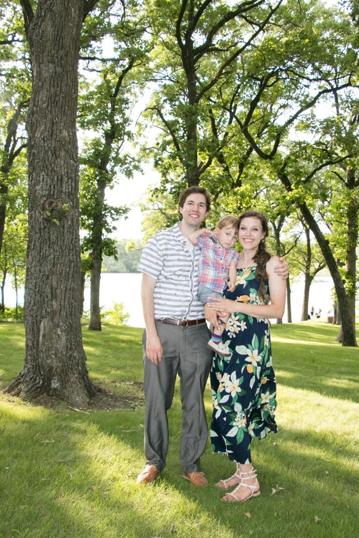 family photo at evelyn's wedding full length