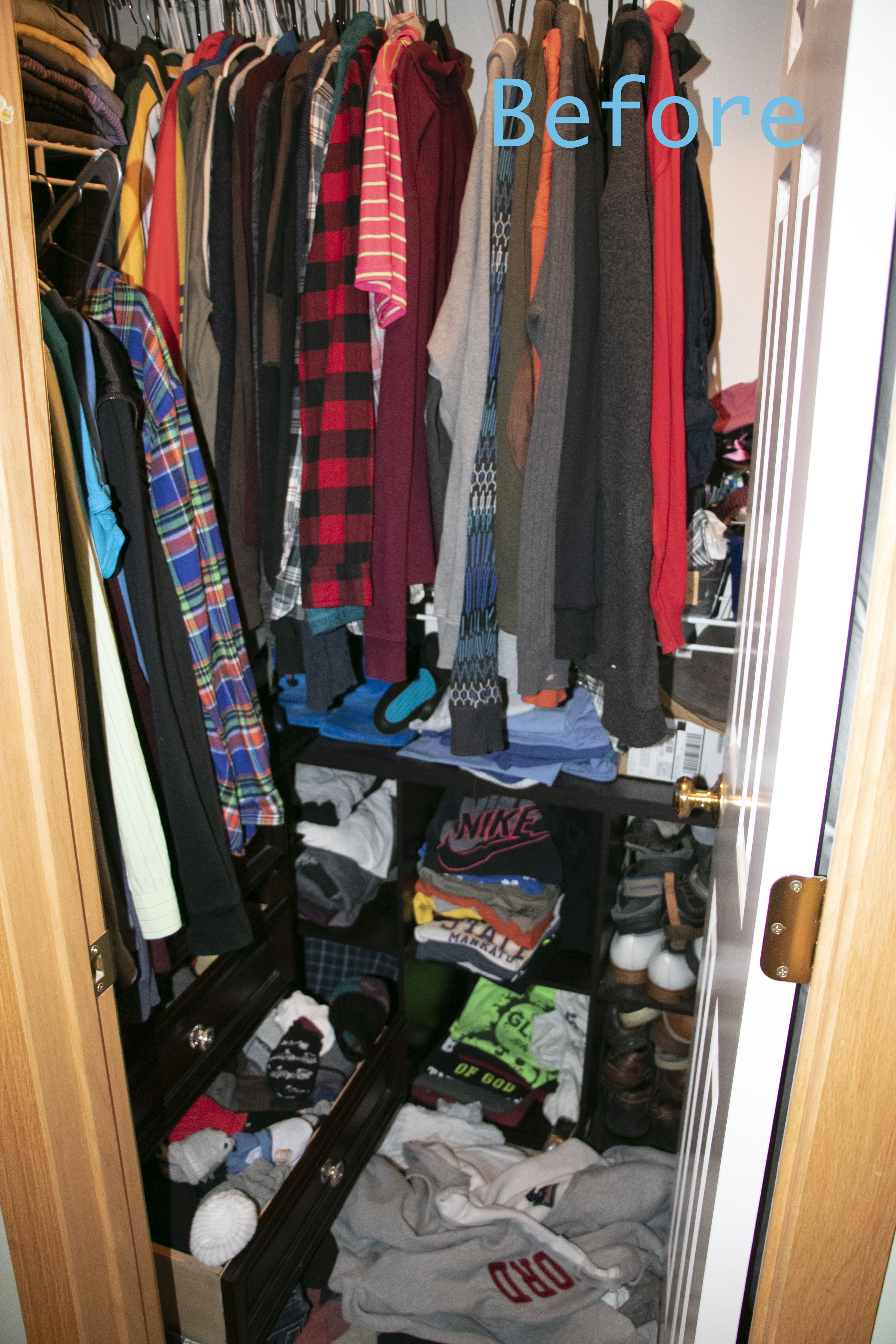 The Classy Artist  Fatheru0027s Day Idea A Small Closet Makeover All Cleaned  Out Wallpaper Going In_1 Copy