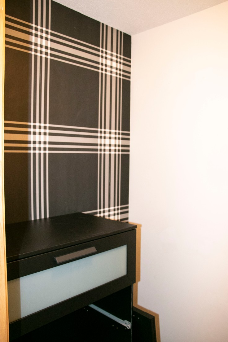 The Classy Artist- Father's Day Idea a small closet makeover Dresser in