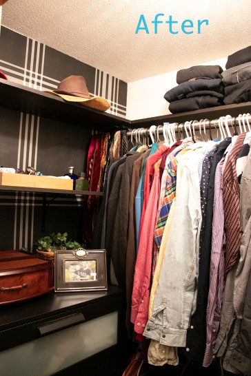 The Classy Artist- Father's Day Idea a small closet revamp finished! after