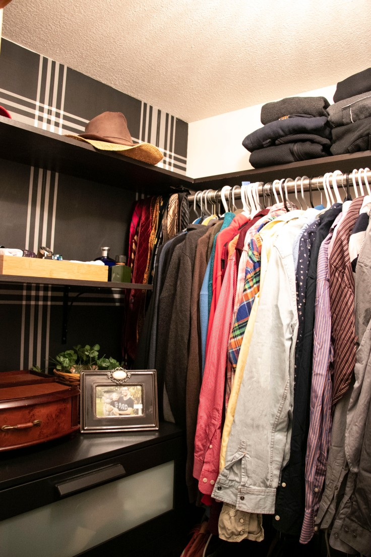 The Classy Artist- Father's Day Idea a small closet revamp finished!